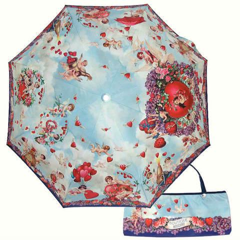 Купить онлайн Зонт складной Moschino Boutique 7280-OC-ANGELS в магазине Зонтофф.