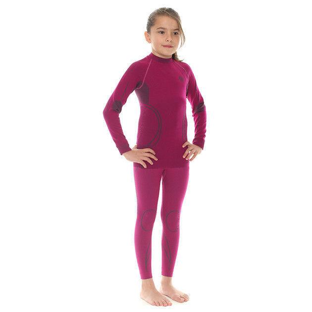 Комплект термобелья детский Brubeck Thermo фуксия (LS11710-LE11000) для девочек