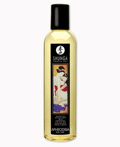 Масло массажное SHUNGA (Шунга), с эфирными маслами с ароматом розы (250 мл)
