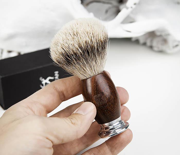 RAZ437-2 Помазок для бритья TITAN, барсучий волос фото 05