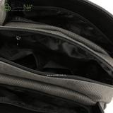 Сумка Саломея 112 флок серый + черный