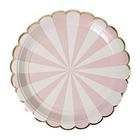 Тарелки в розовую полоску, бол.