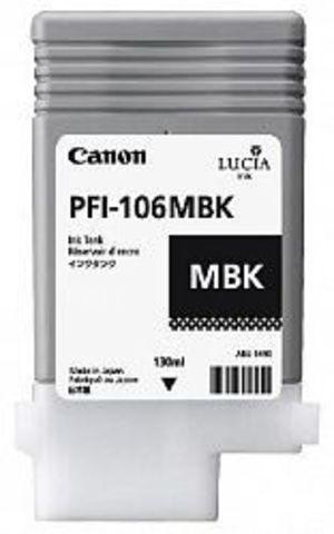 Картридж Canon PFI-106MBK matte black (черный матовый) для imagePROGRAF 6300/6350/6400/6450