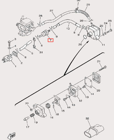 Фильтр топливный для лодочного мотора F9,9 Sea-PRO (9-7)