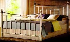 """Кровать """"2230"""" - 160х200 см. —  Белый (с античной медью) (MK-2230-WB)"""