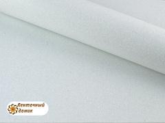 Фоамиран с блестками белоснежный 2мм