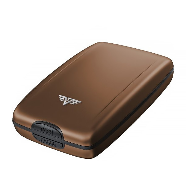 Кошелек c защитой Tru Virtu OYSTER 2, цвет кофейный, 110*69*28 мм