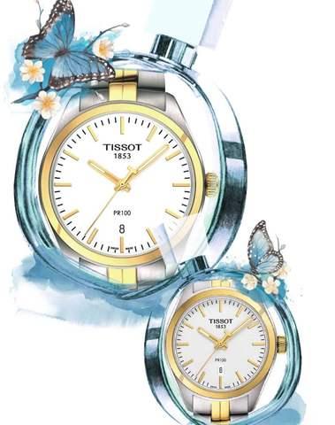 Купить Парные часы TISSOT PR 100: T101.410.22.031.00 и T101.210.22.031.00 по доступной цене