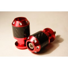 Слайдеры на маятник мотоцикла с карбоновыми вставками, 30х55 мм Красный