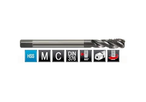 Метчик машинный спиральный Bucovice DIN376 C/2,5P 35° 2N HSS M10х1,5мм 106100