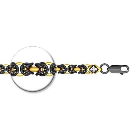 995360800 - Браслет из серебра плетение королевское