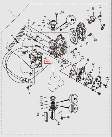 Штифт для лодочного мотора T9.8 Sea-PRO (2-6)