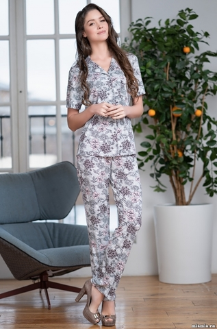 Женская пижама с брюками Mia-Mella  GRETTA 6866