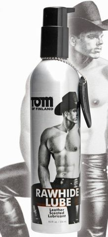 Лубрикант анальный с запахом кожи Tom of Finland Rawhide Leather Scented - 236 мл.