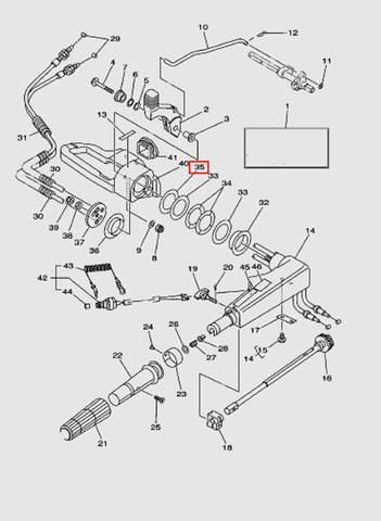 Шайба румпеля  для лодочного мотора T40 Sea-PRO (14-35)
