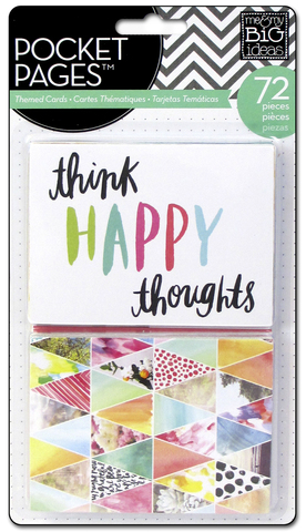 Набор карточек для Project life - Me & My Big Ideas Pocket Pages Themed Cards - Journal Elements 72 шт