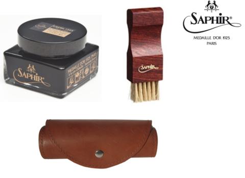 Премиальный набор для полировки обуви Saphir Medaille
