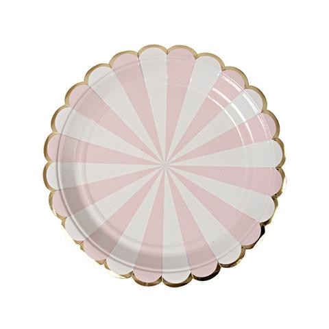 Тарелки в розовую полоску, маленькие