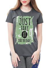 461134-8 футболка женская, серая