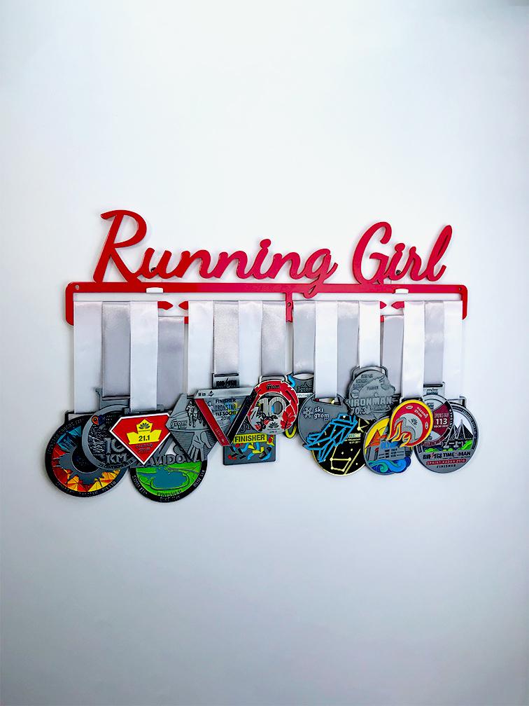 Медальница Running Girl (клубничный)