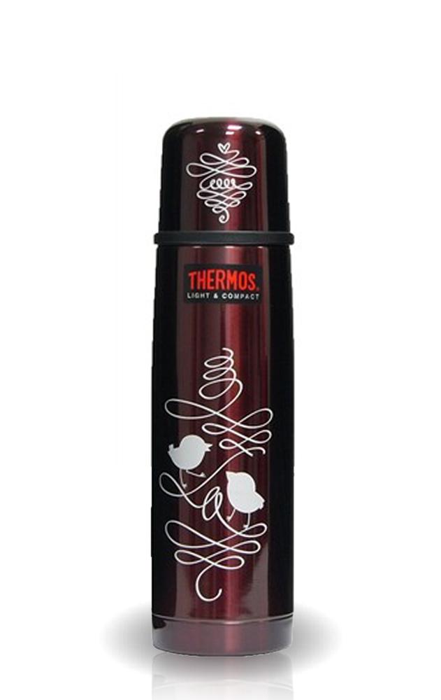 Термос Thermos FBB 500BC Birds (0,5 литра), коричневый
