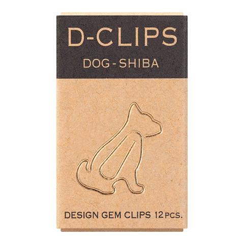 Скрепки Midori D-Clips Dog-Shiba (12 шт.)