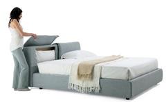 Кровать KOZ (31.58B2)160x200 (ZARA 2, белая ткань кат.А) COMFORT  — серый