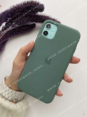 Чехол iPhone 11 Silicone Case /pine green/ сосновый лес original quality