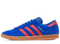 Кроссовки Мужские Adidas Hamburg Suede Blue Red