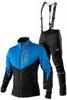 Утеплённый лыжный костюм 905 Victory Code Go Fast 2019 Blue-Black с лямками мужской