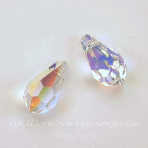 6000 Подвеска Сваровски Drop Crystal AB (11х5,5 мм)