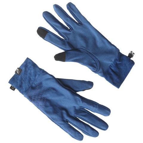 ASICS BASIC PERFORMANCE перчатки для бега в межсезонье синий
