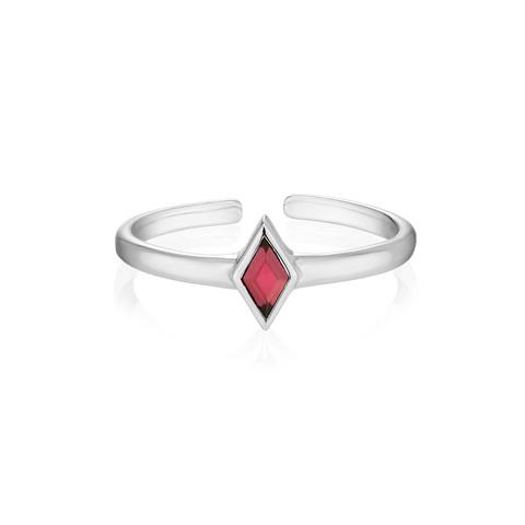 Миди-кольцо RHOMBI - Красный гранат