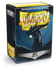 Dragon Shield - Черные матовые протекторы (JET) 100 штук
