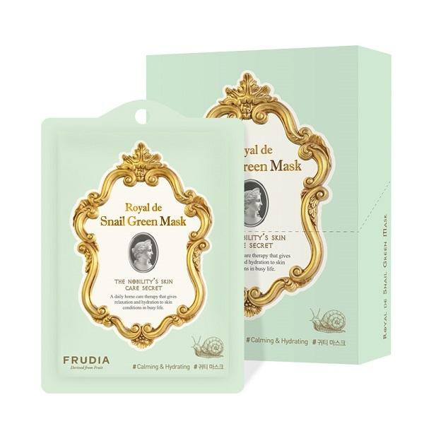 Маска для лица с экстрактом улитки Омолаживающая Frudia Royal de Snail Green Mask 10x27мл