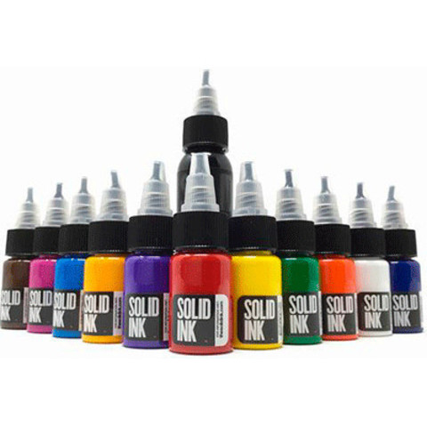 Краска Solid Ink 1/2oz 11 Colors + 1oz Black Mini Travel Set