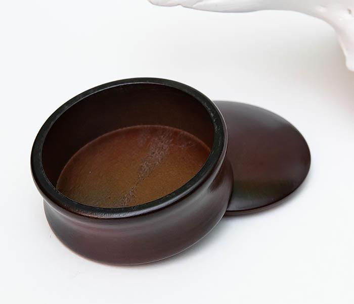 RAZ493 Деревянная чаша для бритья с крышкой фото 05