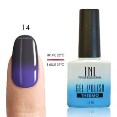 Термо гель-лак TNL 14 - сапфировый/фиолетовый, 10 мл