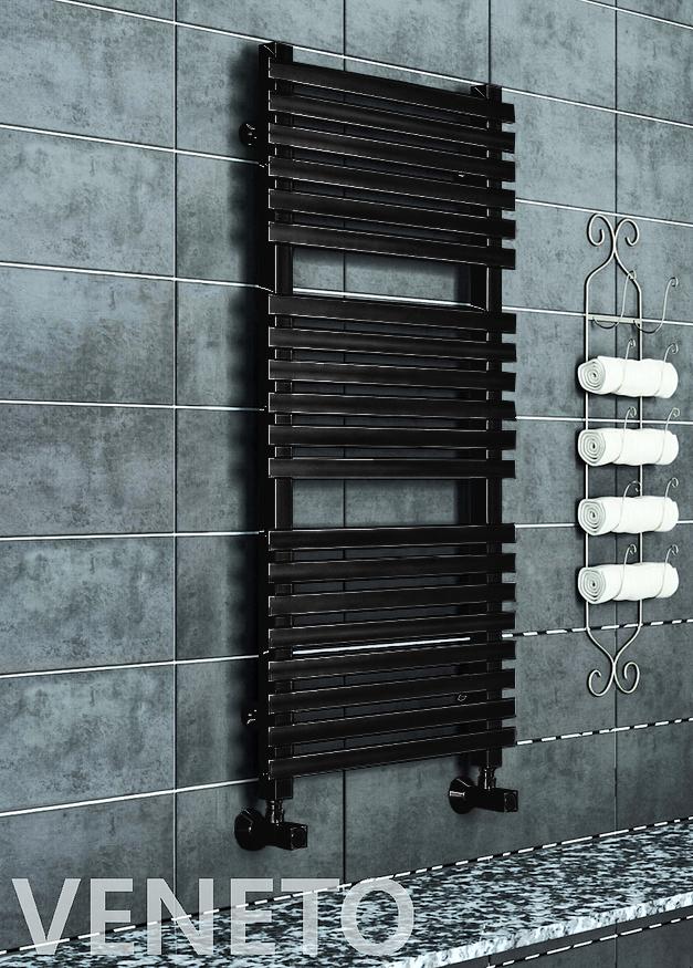 Veneto - черный  водяной дизайн полотенцесушитель