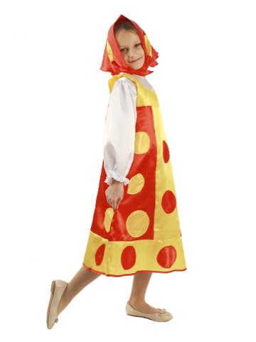 Карнавальный костюм Матрешка красна