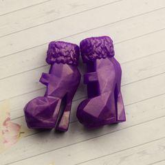 Обувь для Эвер Афтер Хай и Монстр Хай (сиреневые ботинки)