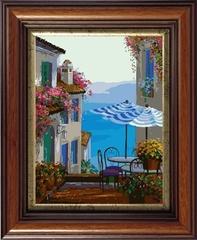 Средиземноморское кафе - картина по номерам