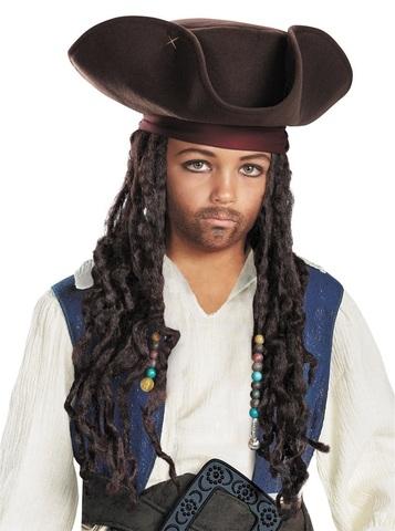 Пираты Карибского моря Пиратская шляпа с дредами Джека Воробья