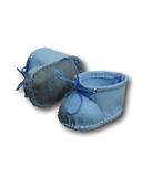 Ботиночки из фетра - Голубой. Одежда для кукол, пупсов и мягких игрушек.
