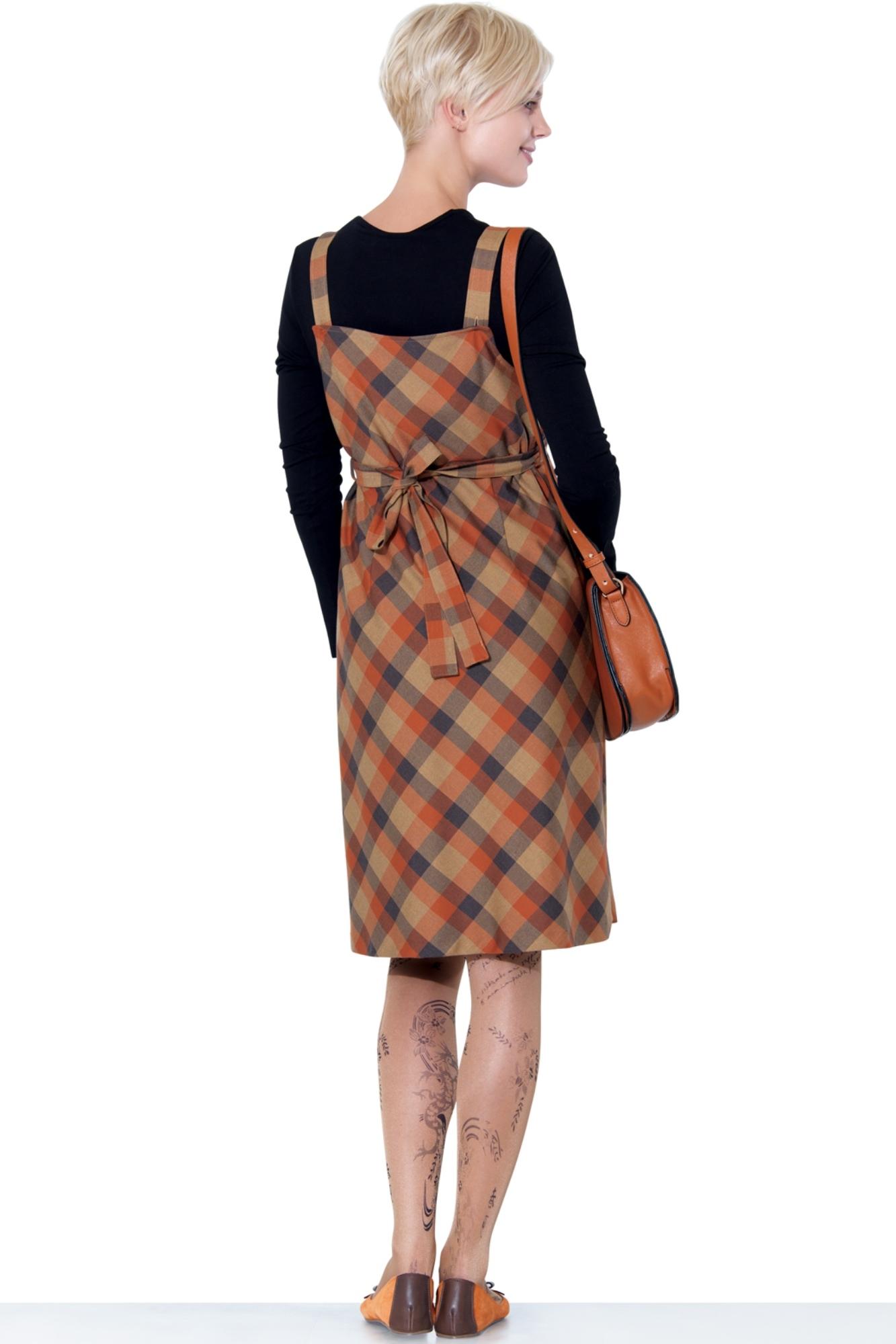 Сарафан 05573 коричневый-оранжевый