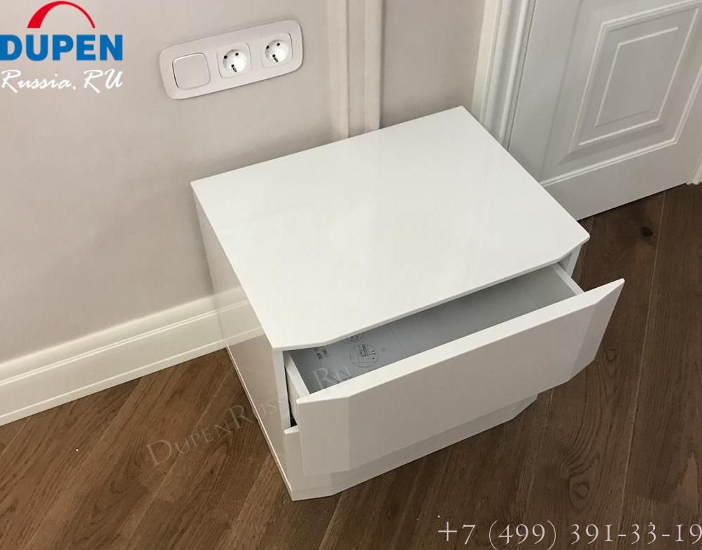 Тумба прикроватная DUPEN (Дюпен) М-102 белая