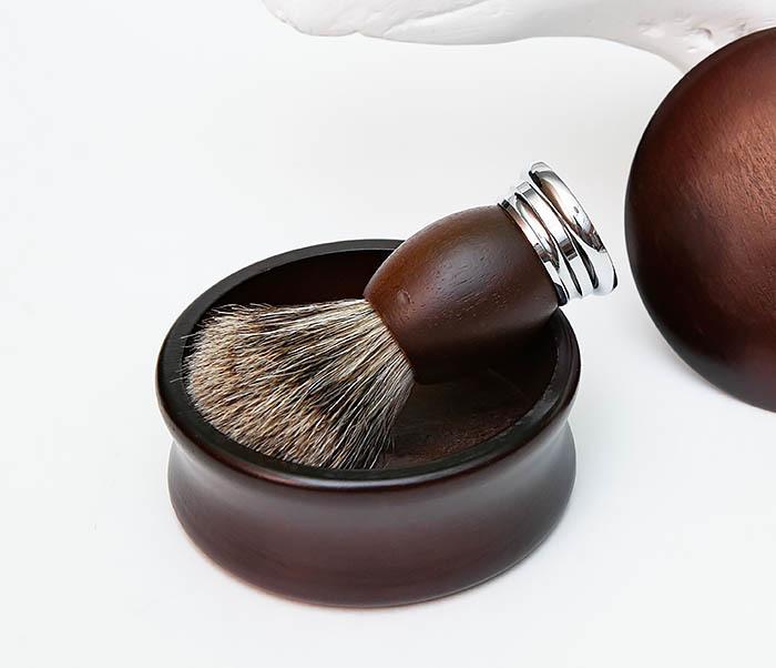 RAZ493 Деревянная чаша для бритья с крышкой фото 08