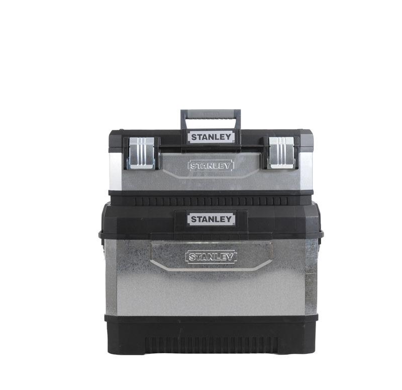 Ящик для инструментов с колесами двухсекционный металлопластмассовый гальванизированный Stanley 1-95-832