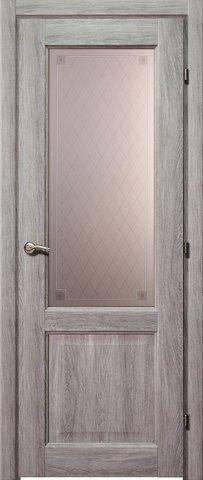 Дверь Краснодеревщик ДО 6324 с/о Пико, цвет дуб пепельный, остекленная
