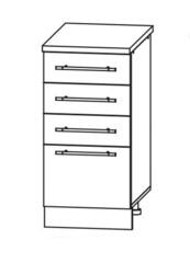 Кухня Империя СЯ 300 Шкаф нижний с ящиками
